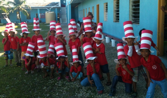 Coop Kindergarten celebrating our hero Dr. Seuss!
